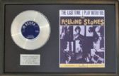 THE ROLLING STONES -PlatinumDisc&SongSheet-THE LAST TIME
